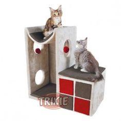Rascador Para Gatos Torre Nevio Gris Y Rojo Trixie