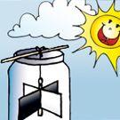 Experimente für Kinder - Bau dir eine eigene Sonnenmühle!