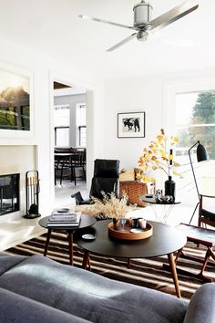 Tour a New York Country Home with Modern Industrial Style via @domainehome