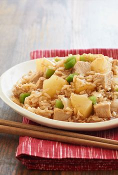 Slow-Cooker Sweet & Sour Pork — Put this pork loin recipe in the slow cooker in the morning and come home to a tasty dish that combines tangy barbecue sauce with sweet, tender pineapple.