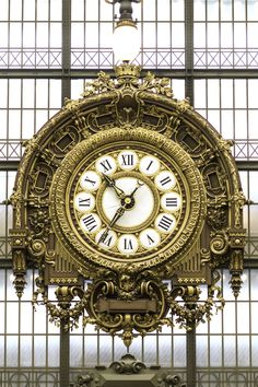 Musee d'Orsay clock in Paris, France - photo by Hugh Rooney, via Corbis Unusual Clocks, Cool Clocks, Antique Clocks, Antique Stores, Beautiful Buildings, Photos Du, Antiques, Prints, Paris France