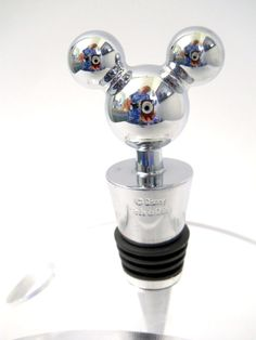 Disney Mickey Mouse Ears Wine Stopper Stainless Steel Rubber Gasket Tapered