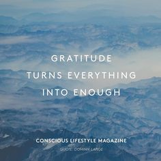 #Wisdom  Are you grateful for what you have or is it still not enough...? @consciouslifestylemagazine