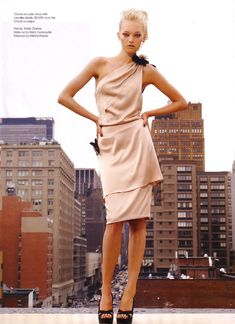 4a0f017d9940 Chanel Resort 2005 Nude One-Shoulder Dress (Gemma Ward) Gemma Ward