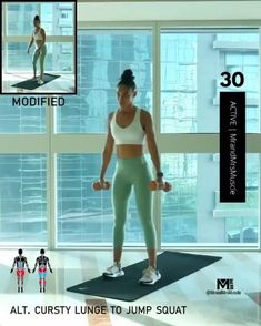 A full body HIIT workout — no equipment required Improve heart health, increase fat loss and strengthen and tone your muscles. Fitness Workouts, Hiit Workout Videos, Full Body Hiit Workout, Gym Workout Tips, Fitness Workout For Women, Butt Workout, Workout Challenge, At Home Workouts, Glute Workouts