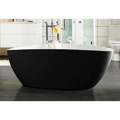 Westerbergs Ellipse 1600 badekar 1570x705 mm, Frittstående, Sort/Hvit Duravit, Bathtub, Bathroom, Design, Modern, Standing Bath, Washroom, Bath Tub, Bathtubs