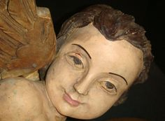 beautiful wood carved angel