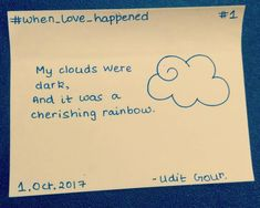 When Love happened is a contradictory series of the thoughts and things happened as love happened. Rainbow, Clouds, Shit Happens, Thoughts, Love, Dark, Instagram Posts, Quotes, Rain Bow