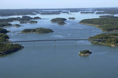 Turku Archipelago: Taivassalo located Kaitainen bridge is one of the longest bridges in our country. Its length is nearly 500 meters and a vertical clearance of meters. The bridge was completed in Our Country, Archipelago, Bridges, Finland, River, Sea, Places, Outdoor, Outdoors