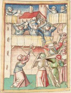 Meisterlin, Sigismundus: Augsburger Chronik, Augsburger Bischöfe, Anonyme Chronik 1368-1406 Augsburg, um 1480 4 Cod Aug 1 Folio 130