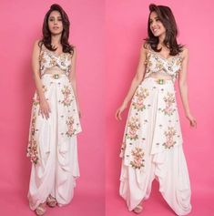 Nushrat Bharucha keeps it peppy as she sports a quirky outfit. Bollywood Outfits, Indian Fashion, Men Fashion, Bollywood Stars, Night Looks, Indian Wear, Bollywood Actress, Lehenga, Actress Wedding