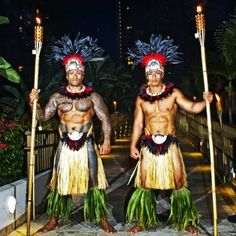 Two Samoan men, their abs are AMAZING!!!!!