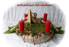 Adventskranz  43cm! aus Floristenhänden mehrjährig von Die Geschenkidee auf DaWanda.com