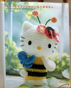 crochet Bumblee Bee Hello Kitty Amigurumi
