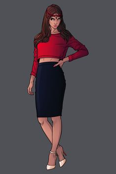 Marvel Fashion Serie n° 8:Wanda Maximoff aka Scarlet WitchFind her on my artbook and go help me make that book real https://www.kickstarter.com/projects/1741342043/kicking-ass-and-wearing-heels-the-fashion-art-of-c