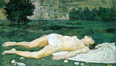 《傷ついた若者》 1886年 ベルン美術館 Kunstmuseum Bern, Geschenk des Künstlers