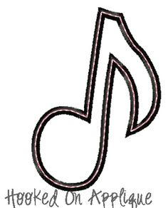 Music Notes Machine Embroidery Applique Pattern X And X Hoops