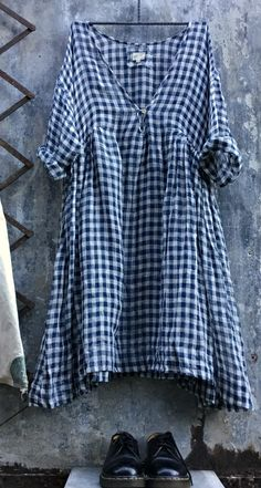 Linen Gingham Dress MegbyDesign