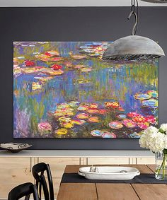 Monet Water Lilies Replica Gallery-Wrapped Giclée Canvas #zulily #zulilyfinds
