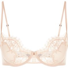 La Perla Lace Story Balconette Bra in Leavers Lace ($540) ❤ liked on Polyvore featuring intimates, bras, floral bra, pink lace bra, balcony bra, lace bra and shelf bra