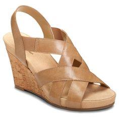 Women's A2 by Aerosoles Swim Plush Wedge Quarter Strap Sandals - Nude 10.5