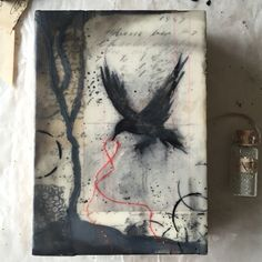 Mixed media and encaustic