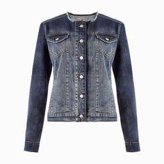 Jacket is no longer available but I wonder if a tailor could alter a regular denim jacket?