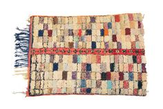 Vintage Boucherouite Rag Rug CPT0345 by ProjectVintage101 on Etsy