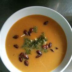 Curried Butternut Squash Soup Allrecipes.com