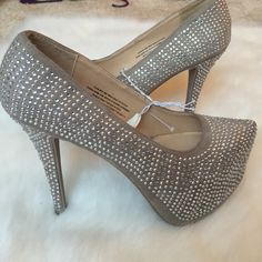 New!!! crystal heels - tag attached New!! crystal heels - tag attached Shoes Heels
