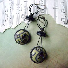 Upcycled tin, eco friendly earrings by anvilartifacts