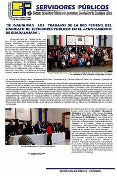 Red Femenil del Sindicato de Servidores Públicos en el Ayuntamiento de Guadalajara.