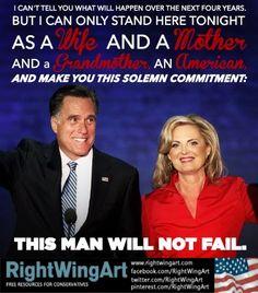 Right Wing Art - Image - Ann Romney: Mitt Will Not Fail