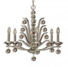Love it! kane, 6 light chandelier www.essentialsinside.com