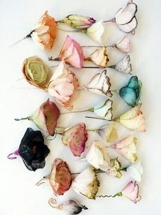 Delicate Paper Flowers created by French artist, Lyndie Dourthe