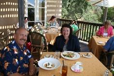 Best Napa #Valley Restaurants - Sitting outside at a #Napa #restaurant - enjoying great food and gorgeous scenery.  What can be better? http://www.cheers2wine.com/Napa-Valley-restaurants.html