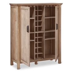 Better Homes and Gardens Rustic Country Wine Cabinet, Pine ...