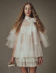 """The Eccentrics""  Lauren de Graaf  photographed by Yvan Fabing   Styling: Paul Sinclaire Hair: Joey George Makeup: Anastasia Durasova"