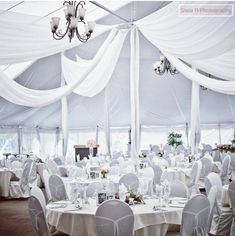 This looks like a fairytale dining place! Book your 2019 Nithridge Estate wedding now! off remaining 2019 dates with minimum of 50 guests! Wedding Events, Our Wedding, Weddings, Tent, Fairy Tales, Table Decorations, Dining, Places, Instagram