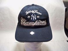 New York Yankees BLACK Baseball 2000 World Series Champion Snapback Cap Hat #Champion #NewYorkYankees