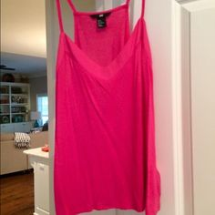 Pink cotton blouse H&M pink cotton, sleeveless blouse. Smoke free home. Excellent condition. H&M Tops Tank Tops