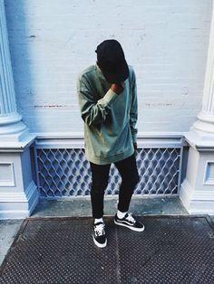 black old skool Vans x white socks