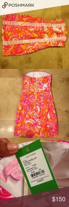Lily Pulitzer Tansy Dress size 00 Gorgeous NWT This is a brand new with tags Lily Pulizer dress size 00 colors are bright and beautiful perfect for summer!! Hard to find Tansy mini dress ❣ Lilly Pulitzer Dresses Mini