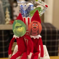 Elf On The Shelf.   The Grinch.  Pretend.  Imagination.  Creative.  Movies. Christmas Fun. Christmas Traditions.