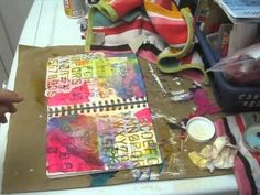 Watched- Great way to use up your old stickers and stash- spread your wings - art journal page