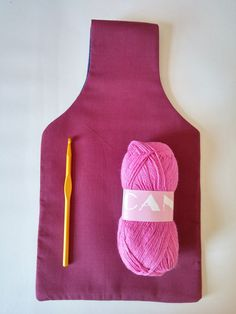 Maroon and Navy Blue Reversible Yarn Bag for by TheSteadyHand