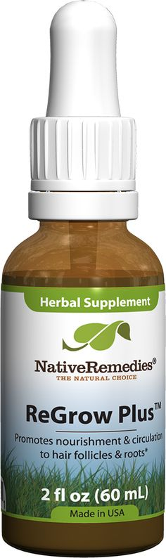 ReGrow Plus™ - Herbal remedy promotes circulation to hair follicles and roots for healthy hair
