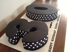 Black And White 30th Birthday Cake