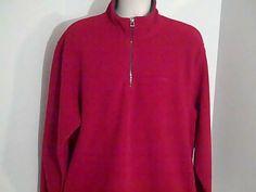 Izod Perform X Mens XL Red Sweat Shirt 100% Polyester #Izod #FleeceTops