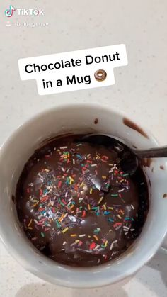 Mug Recipes, Easy Baking Recipes, Sweet Recipes, Dessert Recipes, Cooking Recipes, Snacks Recipes, Kreative Desserts, Starbucks Recipes, Chocolate Donuts